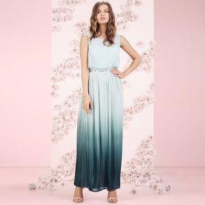 Lauren Conrad Runway Ombré Maxi Pleated Dress 10